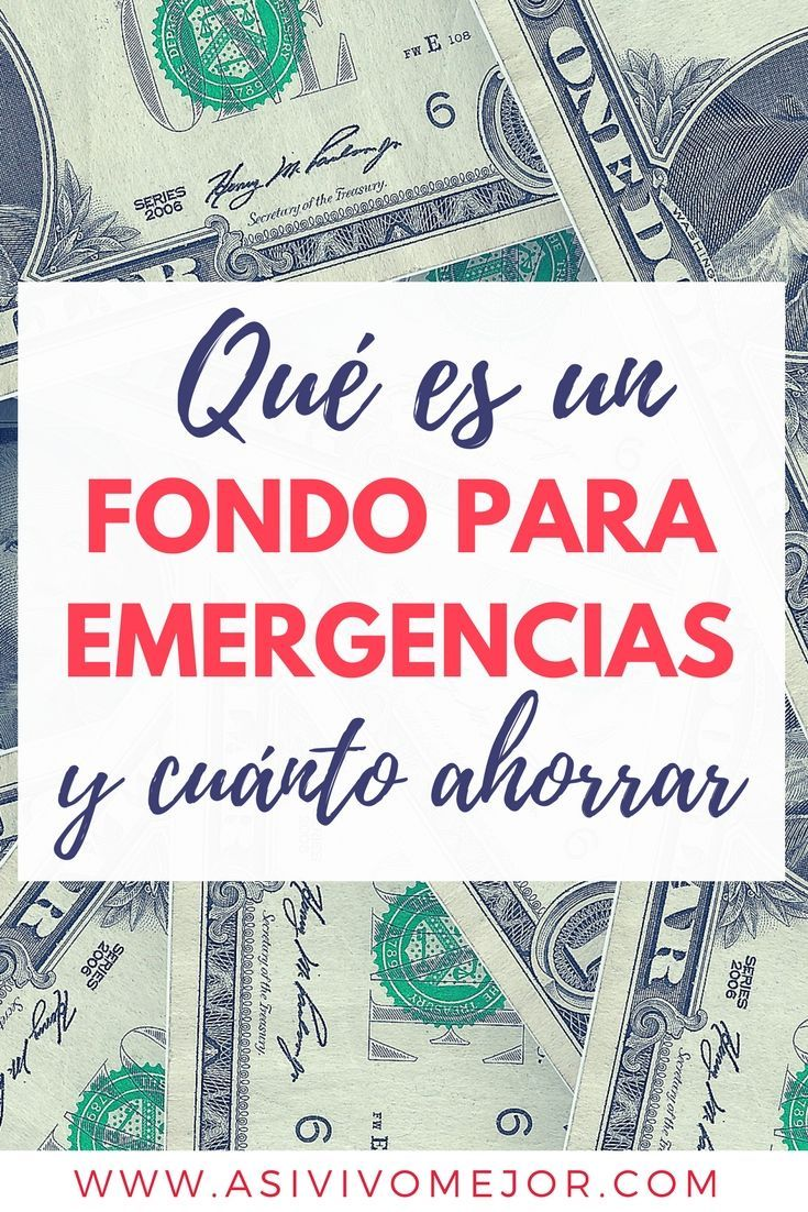 Qué es y cuánto debo #ahorrar en un fondo de emergencia? Aprende de #finanzaspersonales #ahorros #dinero #hispanos #asivivomejor #podcast #finanzas