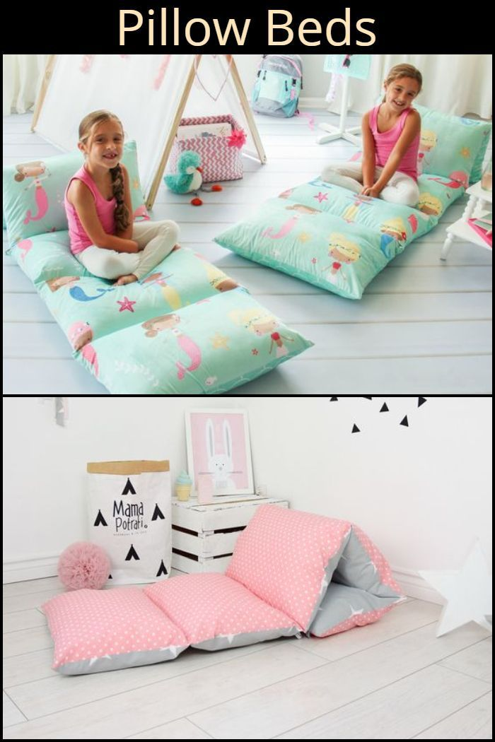 Make this DIY pillow bed for your kids! # …