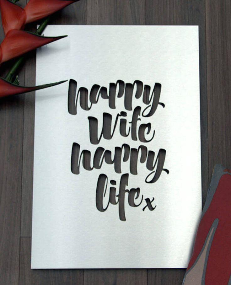 Happy Wife Happy Life - Outdoor Art