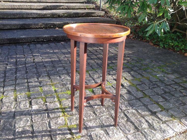 c.1900 Antique JOSEF HOFFMANN Thonet WIENER WERKSTATTE Side Drinks Table AUSTRIA