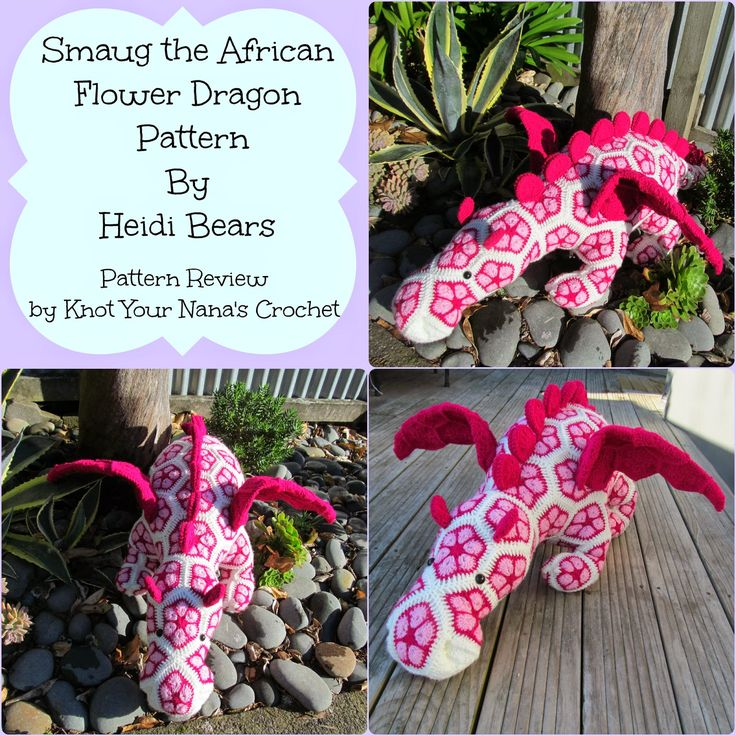 Free Knitted Crochet African Flower Pattern Dragon : 17 Best ideas about African Flowers on Pinterest Unique ...