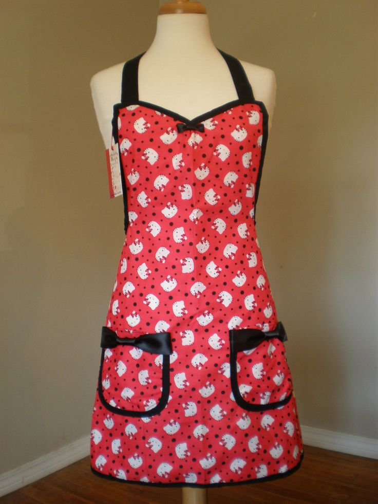 Hello Kitty apron limited edition by HauteMessThreads on Etsy,