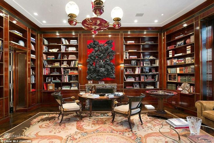 Spectacular: The limestone property also has a spacious study area and library that has more than enough space for books
