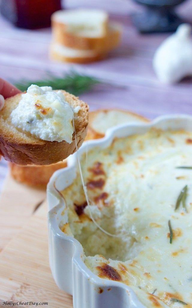 baked-ricotta-dip| HollysCheatDay.com