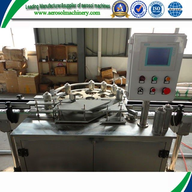 Hot-sale five heads automatic aerosol filling machine,pu foam profile cutting machine     More: https://www.aerosolmachinery.com/sale/hot-sale-five-heads-automatic-aerosol-filling-machinepu-foam-profile-cutting-machine.html