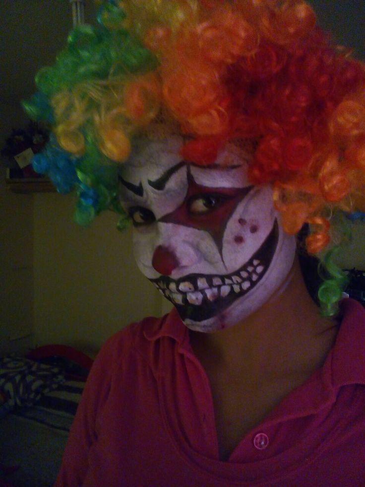 maquillaje de halloween. payaso asesino