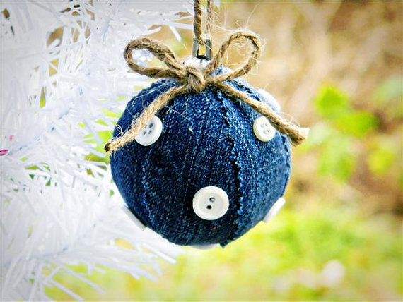 Jean Ball Ornament, bolita de jean