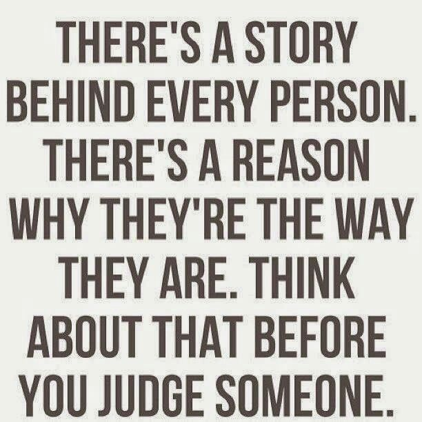 You never know what someone may be dealing with. Don't judge.