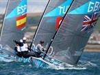 Great Britain's Ben Ainslie in the Finn Class