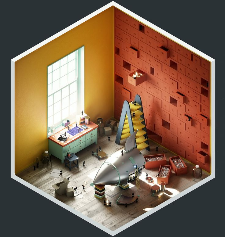 4² Rooms - The Construction Room by The Stompin\' Ground | Illustration | 3D | CGSociety