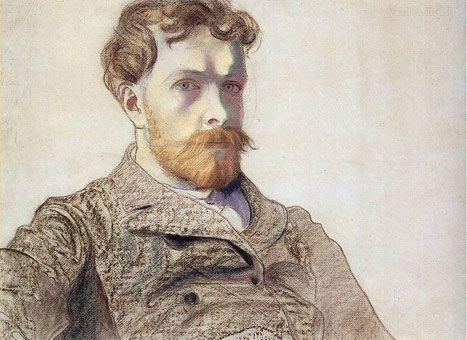 Stanislaw Wyspianski --self portrait. the signs of illness evident