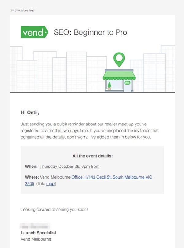 Email template - Event Reminder - SEO Beginner to Pro