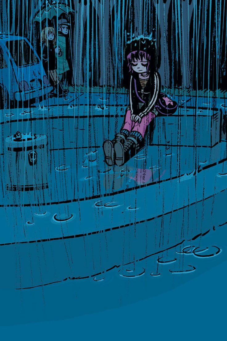 I've recently realized I can relate to Ramona Flowers in a very deep way...I really like this picture of her, she's a very complex character and has an aura of invulnerability to the world around her.