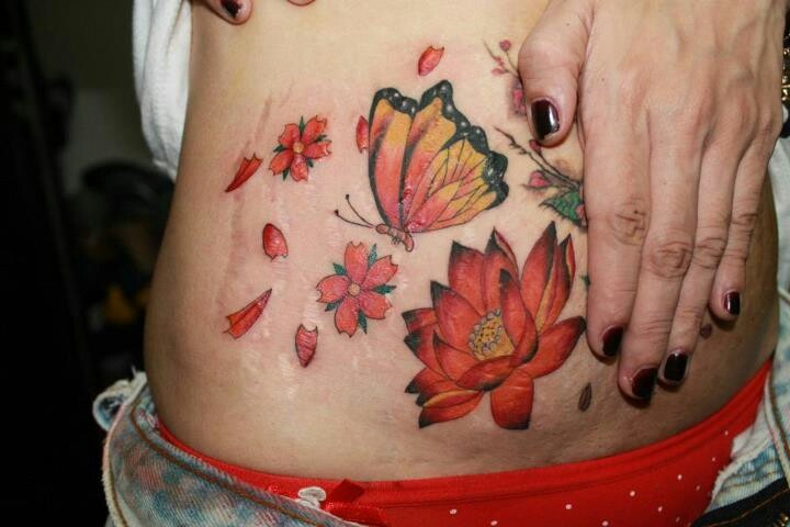 820 best tummy tats vii images on pinterest tattoo ideas for Stretch marks tattoo cover up