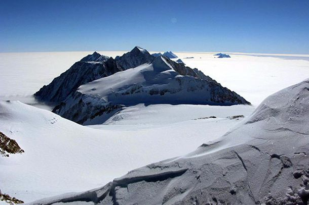 #8 - Vinson Massif  Vinson Massif is the highest mountain of Antarctica, lying in the Sentinel Range of the Ellsworth Mountains, which stand above the Ronne Ice Shelf near the base of the Antarctic Peninsula.  ...from '25 Tallest mountains in the World'