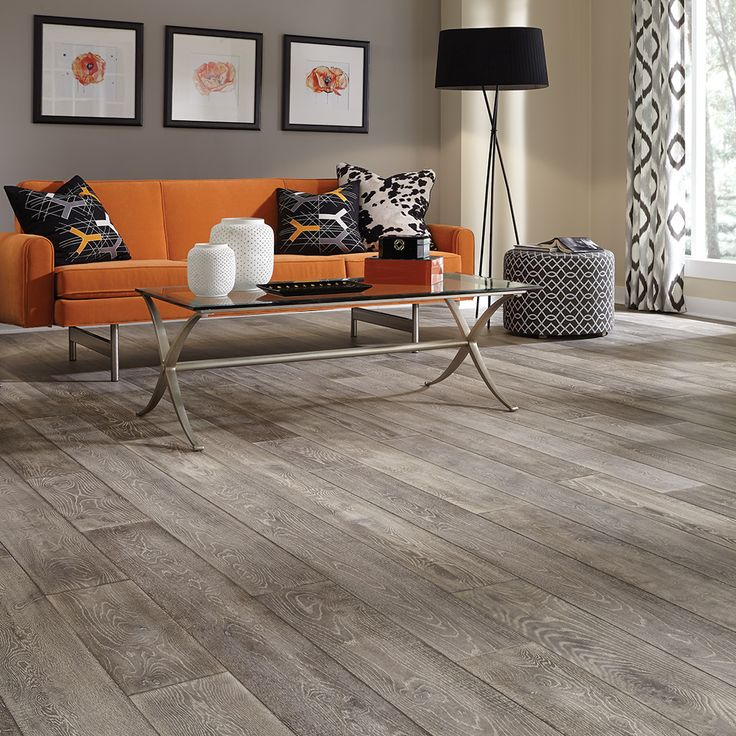 "Mercado Oak hardwood, a stunning wire-brushed, subtly distressed handcrafted floor in 7"" wide planks."