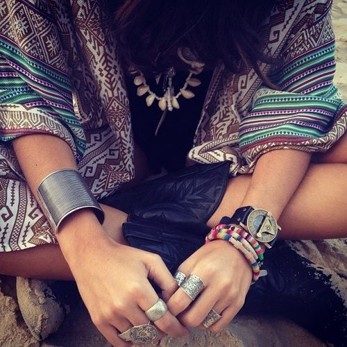 Bohemian Style Rings and Bracelets