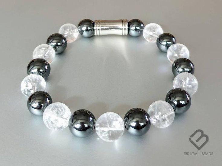 Men's beads bracelet, Women's bracelet, quartz bracelet, healing gemstones, Men's accessories, jewelry for him, unisex, boyfriend Bracelet