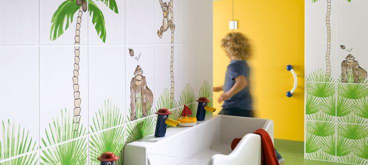 Steuler réconcilie les enfants avec  la salle de bains en proposant des gammes de carreaux en faïence