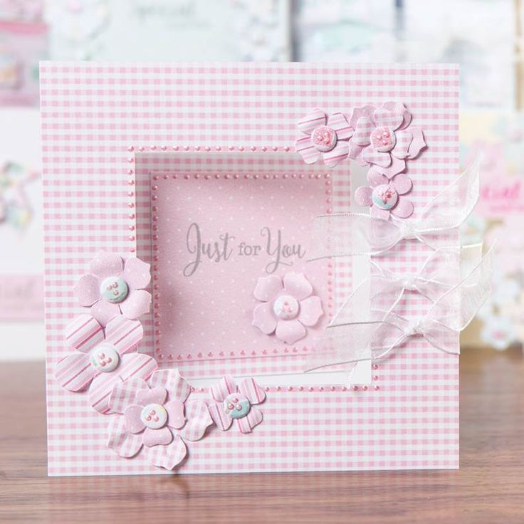 Pink gingham card design from the @craftworkcards Summer Days Collection! Shop now at C+C: http://www.createandcraft.tv/pp/craftwork-cards-summer-days---cards%2c-ins-345342?p=1 #cardmaking #papercraft