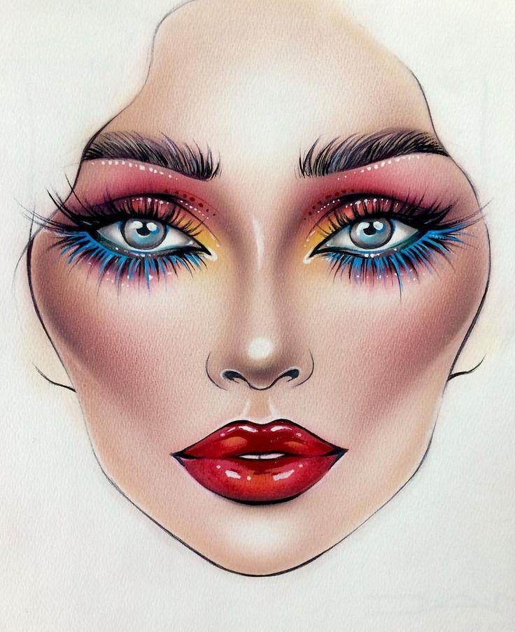 makeup drawing face - photo #6