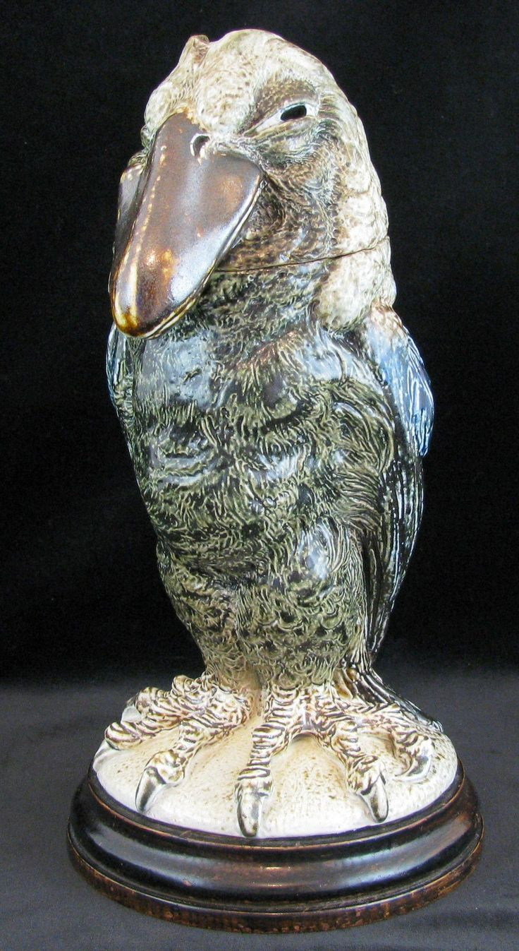 IMHO one of Roberts best... A lidded Wally Bird Jar by Robert Wallace   Martin Martin Brothers pottery 1870- 1915 London