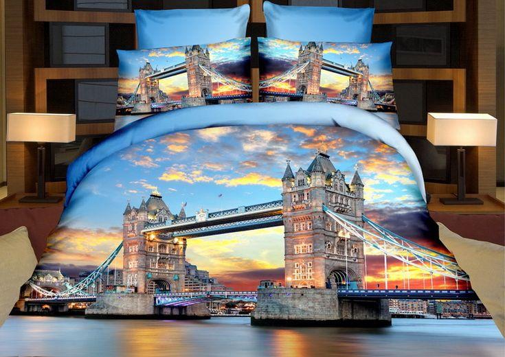 Tower Bridge při západu slunce ložní povlečení
