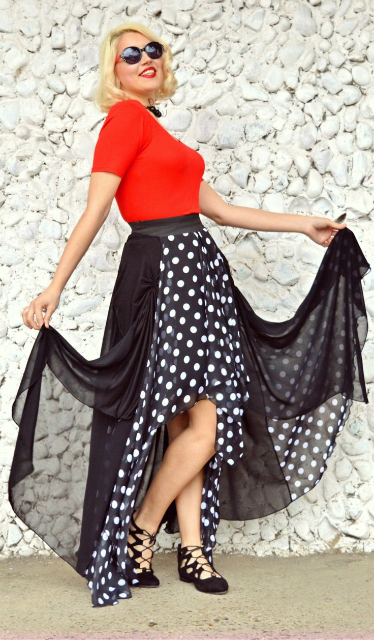 Just launched! Extravagant Patch Skirt / High Waist Asymmetrical Skirt / Patch Summer Skirt / Polka Dots Skirt / Black Polka Dot Skirt TS11 / S/S 2016 https://www.etsy.com/listing/287176491/extravagant-patch-skirt-high-waist?utm_campaign=crowdfire&utm_content=crowdfire&utm_medium=social&utm_source=pinterest