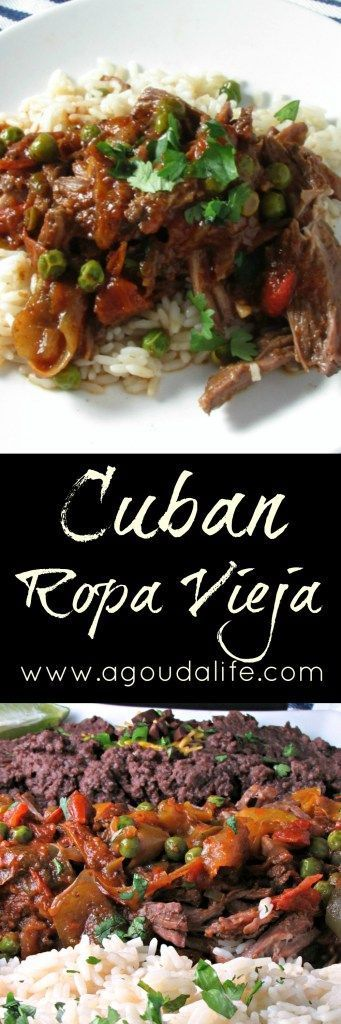 Cuban Ropa Vieja ~ classic Cuban dish ~ tender, braised shredded beef in a robust, tomato-herb sauce. Serve over cilantro-lime rice with black beans.