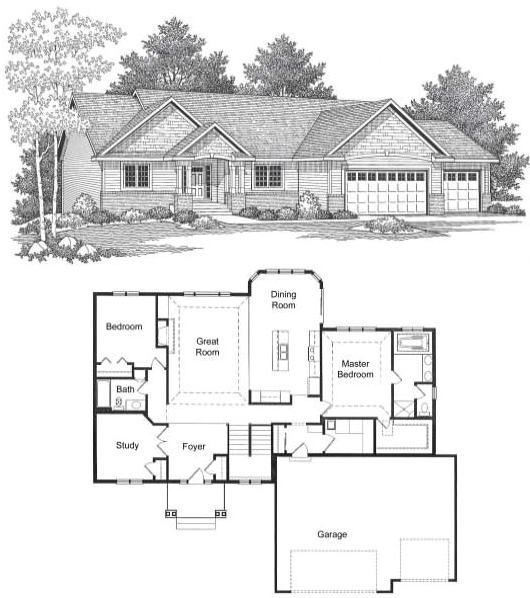 4 bedroom rambler floor plan ramblers yorkshire new for Rambler house designs