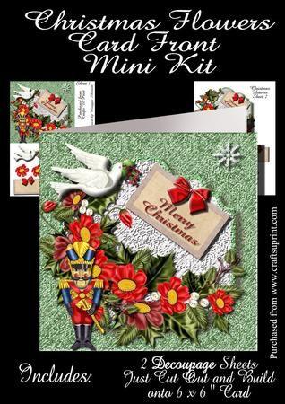 Christmas Flowers  on Craftsuprint - Add To Basket!
