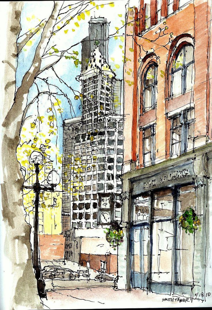 urban sketchers seattle | Urban Sketchers Seattle: April 2010