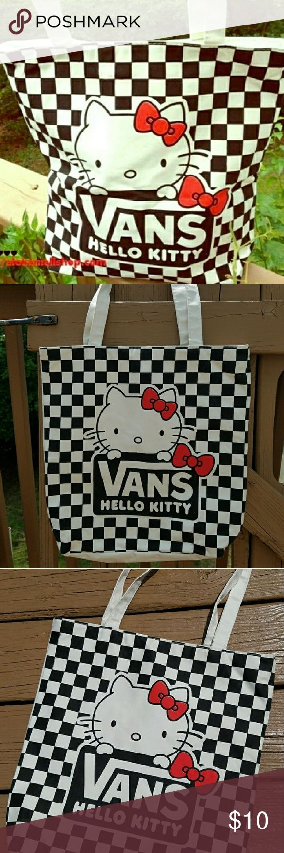 Beach bag. Spaciousness unique Vans hello kitty. Bags Totes
