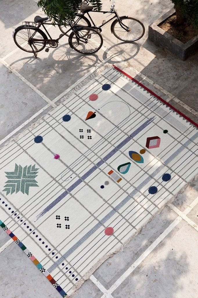 Designed By Doshi Levien For Spanish Rug Maker Nanimarquina, Rabari Rug  Collection Evokes The Sensual And Shiny World Of Tribal Folk Embroidery Of  India.