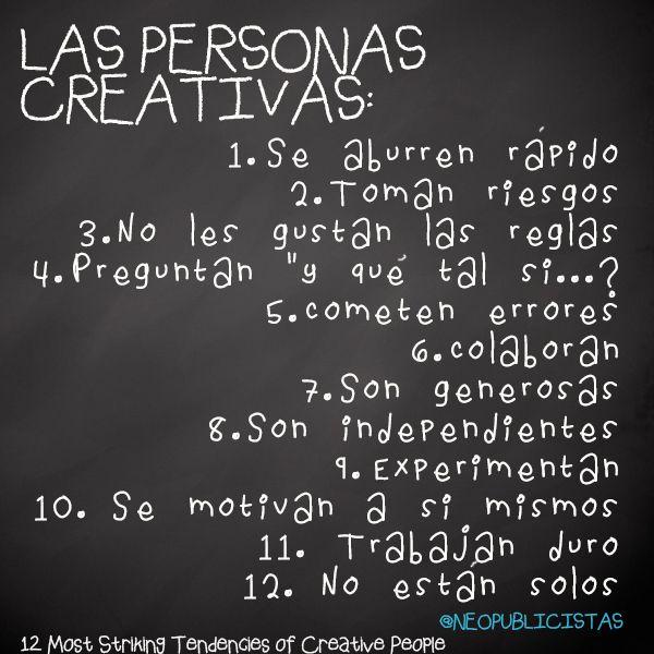 Así son las personas #creativas :)