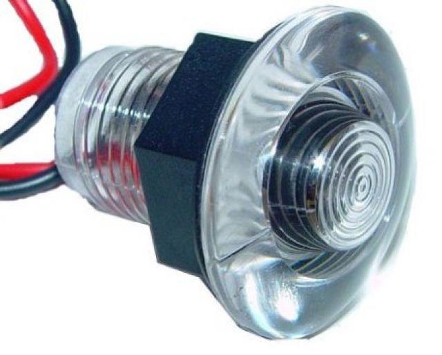 Luz p/ Viveiro / Deck / Cortesia em ABS a Prova De Água - LED Azul - 12 V - Embutir