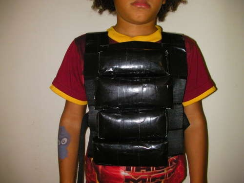 Duct Tape Adjustable Weight Vest.....good idea to make for an ADULT!!!
