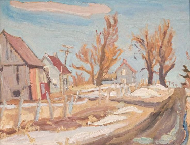 Ralph Wallace Burton - Spring Near Hallville Ontario 10.5 x 13.5 Oil on wood panel