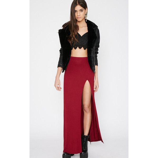 Albany Maroon Maxi Skirt ($6.57) ❤ liked on Polyvore featuring skirts, red, floor length skirt, long jersey skirt, long skirts, maroon skirt and maxi skirt