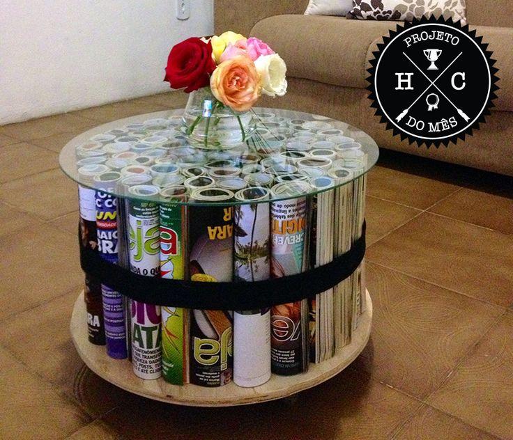 Galeria do Leitor - DIY (do it yourself/ faça você mesmo) Mesinha feira de revista, Bancada adesivada, Cadeira personalizada, Puff colorido e um bocado de faça você mais que estiloso.