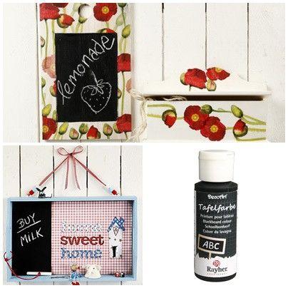 Tafelfarbe schwarz 59ml von Die Geschenkidee auf DaWanda.com