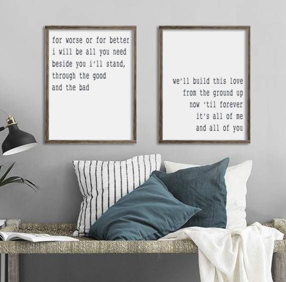 Bedroom Wall Decor From The Ground Up All Of Me Loves All Of You