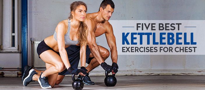 Working out with kettlebells can increase your strength, endurance and flexibility. Do these five effective kettlebell exercises to build chest strength.