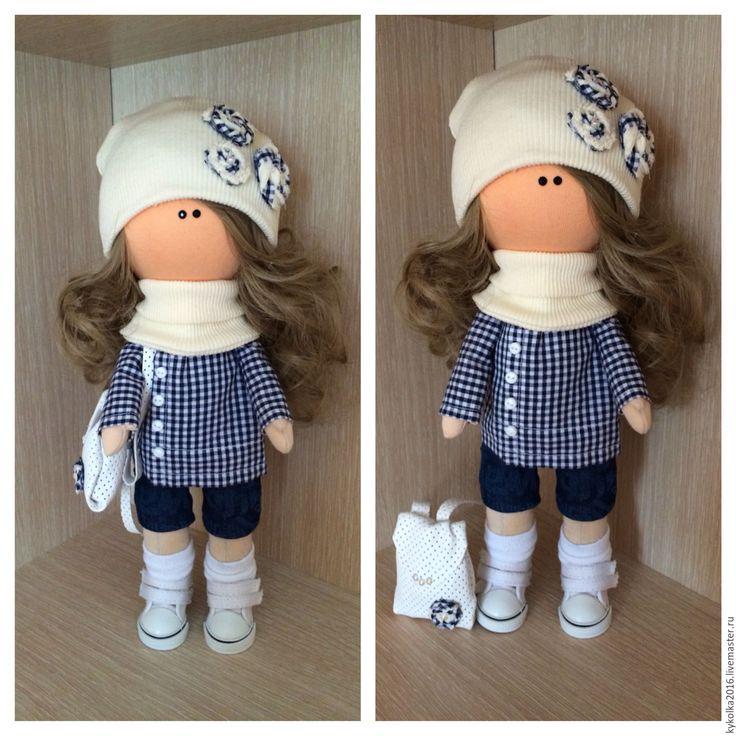 Купить Текстильная кукла - текстильная кукла, интерьерная кукла, трикотаж белый ангел, хлопок американский
