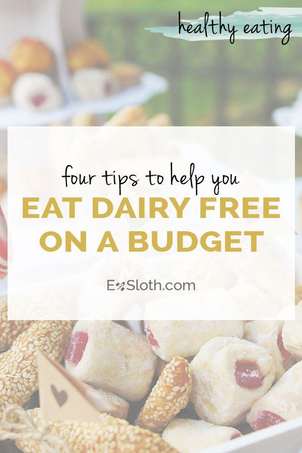 Four tips to help you eat dairy free on a budget via @ExSloth | ExSloth.com