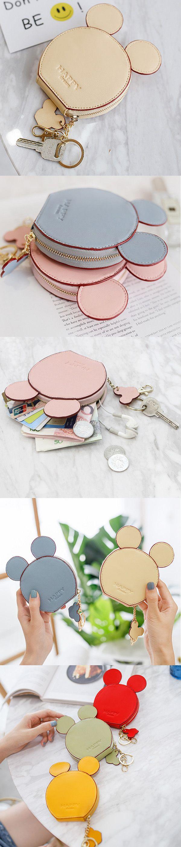 Women Cute Animal Shape Wallet Purse Coin Bag Key Bag