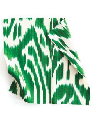 Eye-catching emerald green #ikat