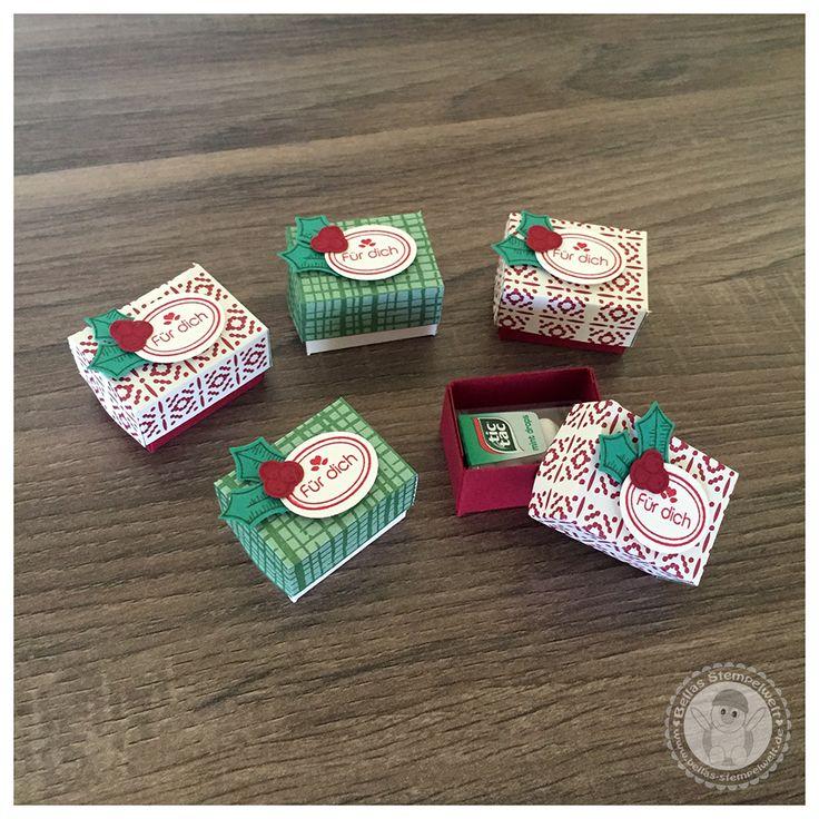 Stampin' Up! - kleine Verpackungen mit Mini Tic Tac - Bellas Stempelwelt - Baby Bettchen, Cameo, Himmelblau, Foxy Friends, Kinderzimmer