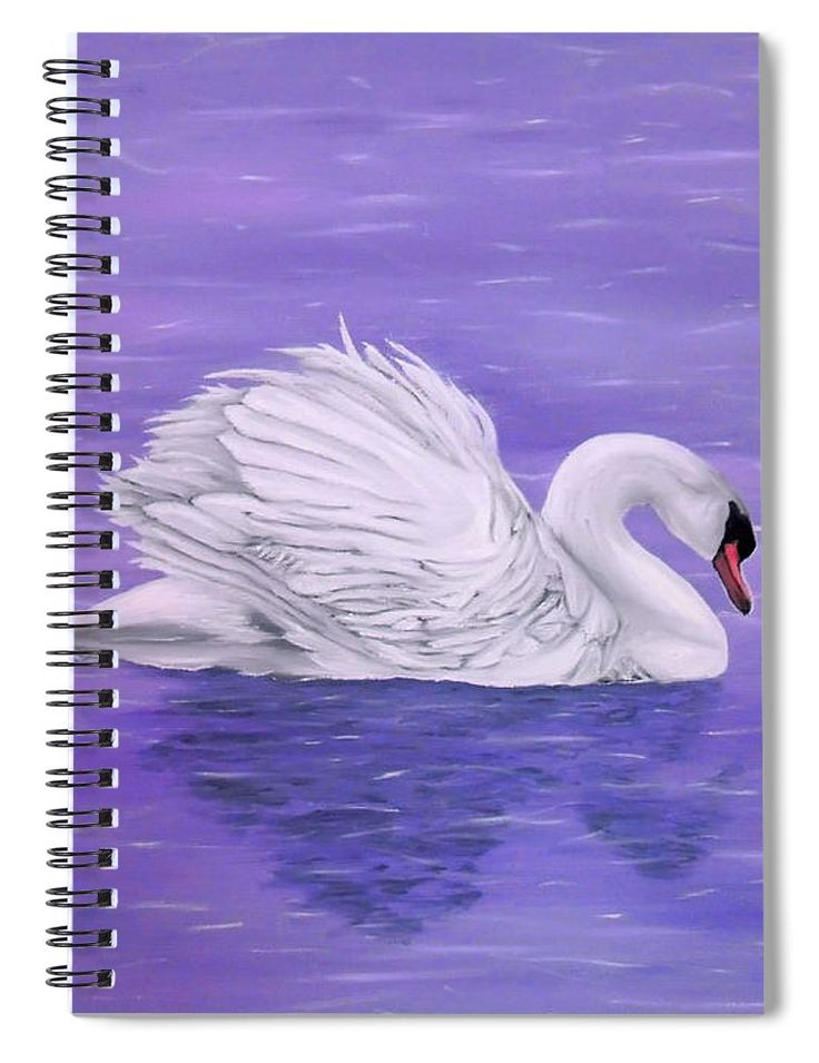 Spiral Notebook, stationery,school,supplies,cool,unique,fancy,trendy,awesome,beautiful,design,unusual,modern,artistic,for,sale,items,products,office,organisation,swan,lake,purple,lavender