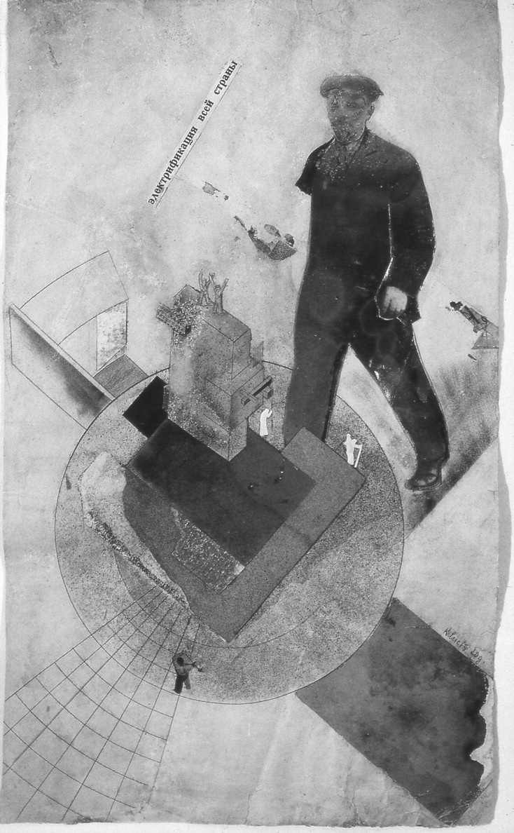 Gustav Klutsis, Electrification of the Entire Country, 1920
